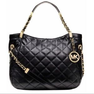 Michael Kors Savannah Quilted Leather Tote